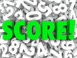 Score Word Numbers Background Final Tally Evaluation Grade Ratin