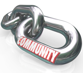 Community Word Chain Links Society Together Diverse Groups