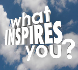 What Inspires You Question Spark Imagination Creativity