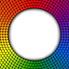 Rainbow frame, abstract vector