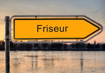 Strassenschild 9 - Friseur