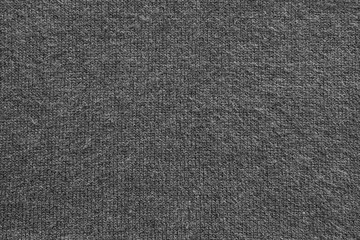 texture of fleecy knitted fabric black color
