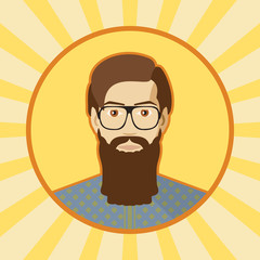 Single vector male avatar.