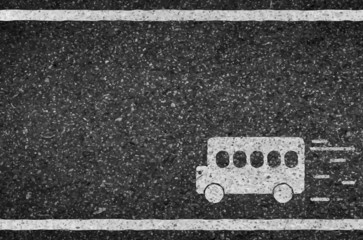 Bus road and asphalt background texture with some fine grain