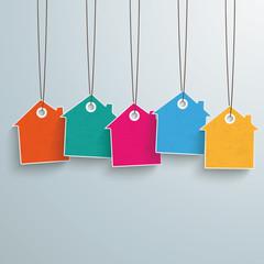 5 Colored Price Sticker
