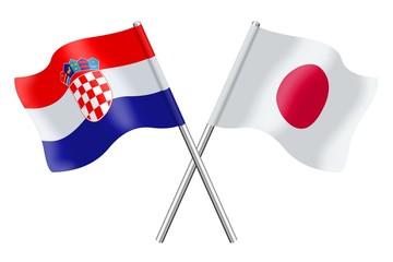 Flags: Croatia and Japan