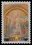 Timbre fresque de la grotte de Lourdes