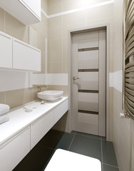 Toilet room in modern style