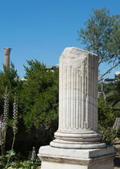 Broken marble column