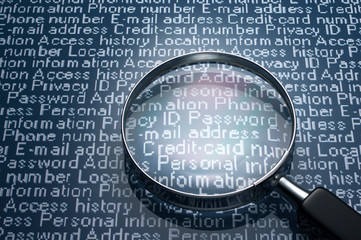 Sneaking a look at personal information.