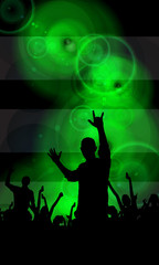 Music party illustration. Vector