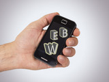 Hand and words with mobile computing