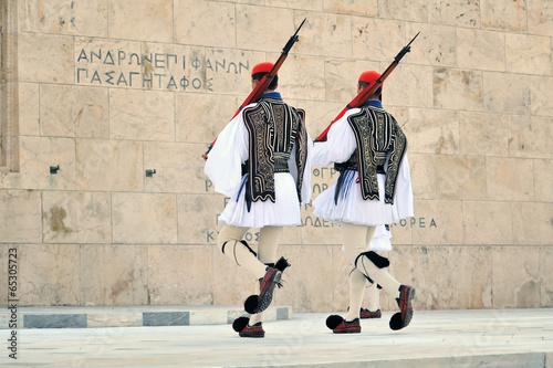 Fotobehang Athene Evzoni guard