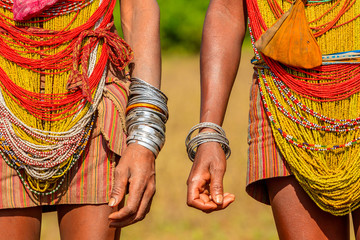 Colourful Tribal Dress, Orissa, India