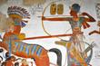 Leinwanddruck Bild - affresco egizio