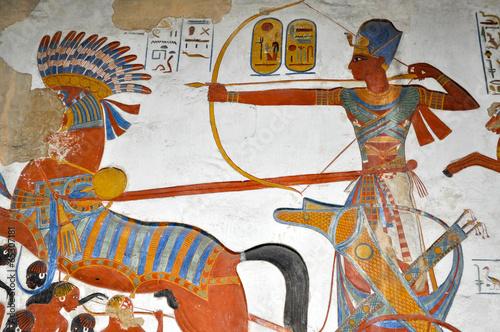 Leinwanddruck Bild affresco egizio