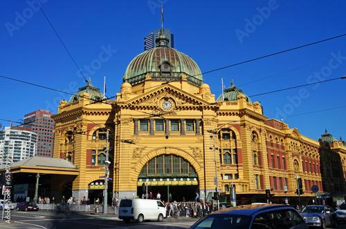 Foto op Canvas Australië Flinders Street Station (Melbourne, Australia)