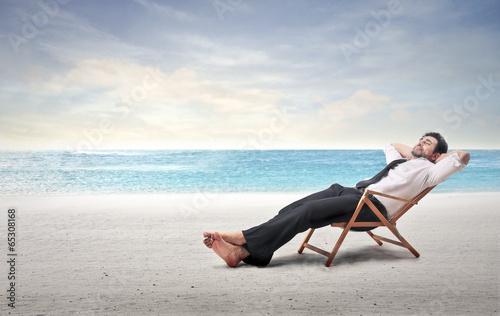 Leinwanddruck Bild at the seaside
