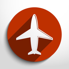 Airplane web icon