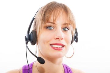 opératrice téléphonique de vente et marketing