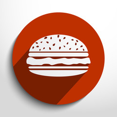 Vector hamburger web icon