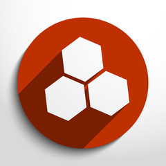 Vector honey cells web icon