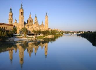 Pillar basilica in Zaragoza, Spain.