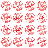Fototapety stamp_towns_europe