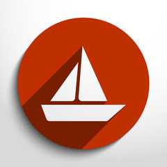 Vector yacht web icon
