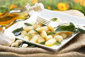 Gnocchi mit Salbei und Olivenöl