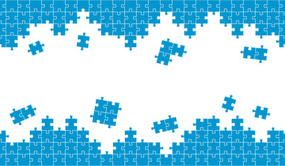 Puzzle Hintergrund blau endlos