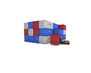 pila container con muletto nero 1