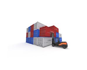 pila container con muletto nero 2