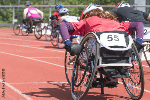Fototapeta wheelchair race stadiium