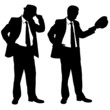businessmen with hats