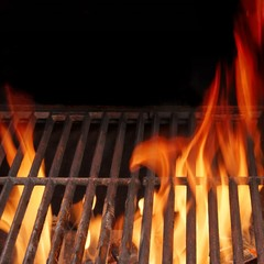 Hot BBQ Grill and Burning Fire XXXL