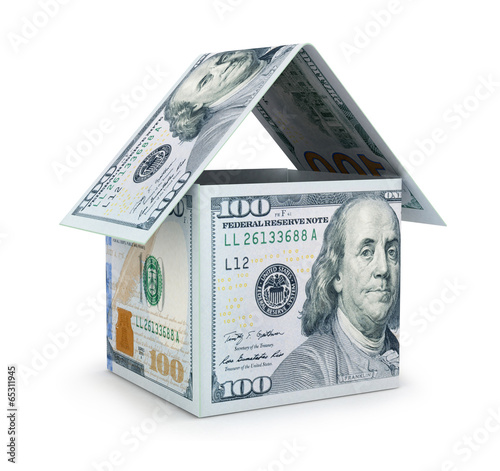 House made with Hundred Dollar Bills