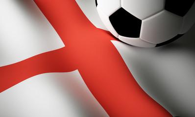 English flag, football