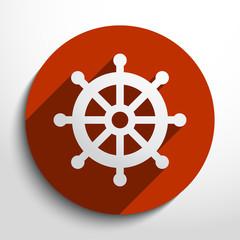 Vector rudder web icon