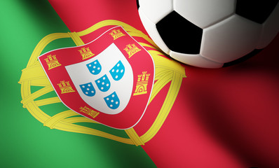 Portuguese flag, football