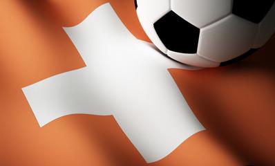 Swiss flag, football