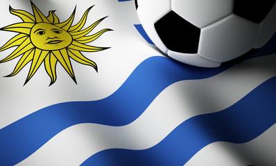 Uruguay flag, football