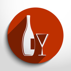 Vector glass bottle web icon