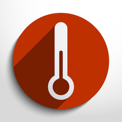 Vector thermometer web icon