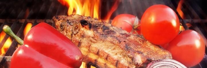 Grilled Pork Brisket