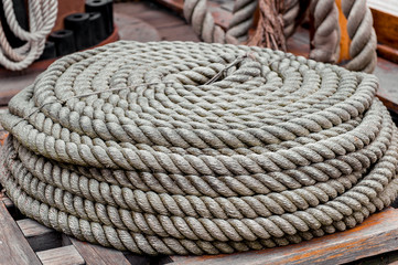 Coil of rope close-up