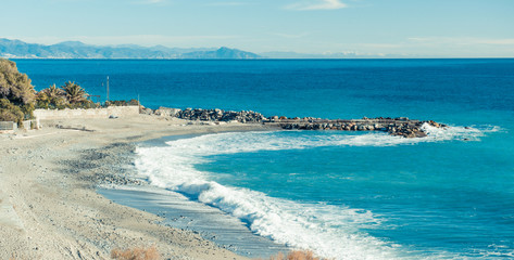 Empty beach. Italy