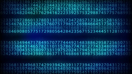 number, abstract loop motion background