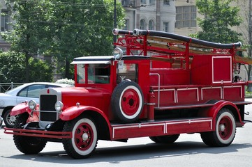 Russian retro fire truck