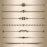 Elements for design - decorative line dividers. - 65317706